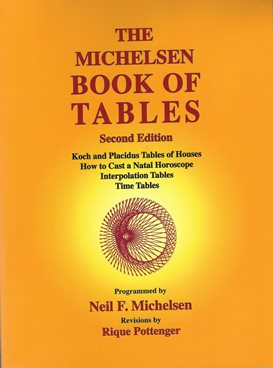 The Michelsen BOOK OF TABLES, Second Edition by Meil F. Michelsen and Rique Pottenger