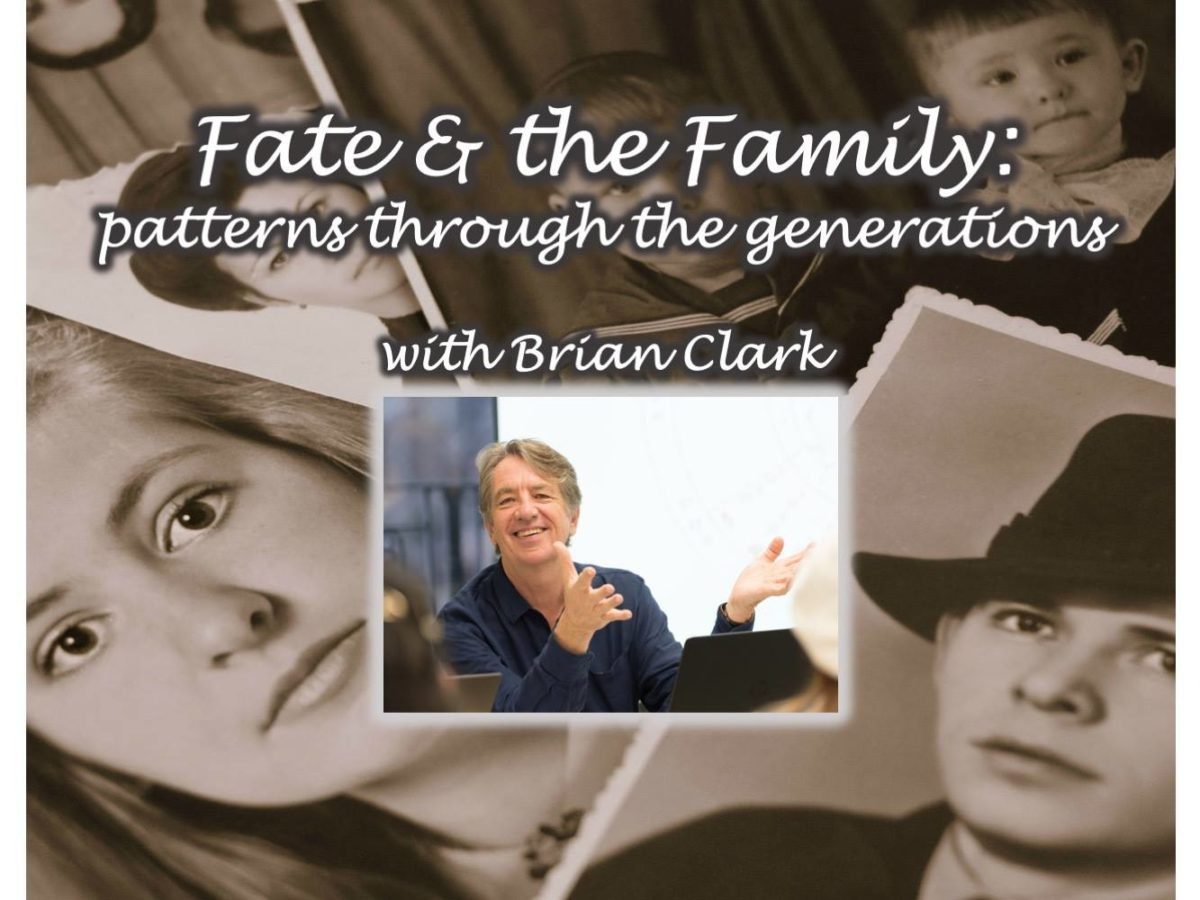 Fate and the Family: Patterns Through the Generations, with Brian Clark (4 classes)